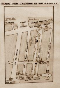 Planskizze für die Aktion in der Via Rasella