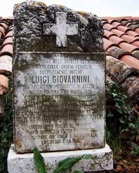 Gedenktafel für Luigi Giovannini