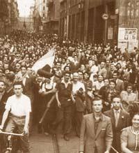 Friedensdemonstration am 25. Juli 1943 in Mailand