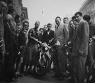 M.E. (mit Motorrad) in den 50er Jahren als Reisejournalist in Kroatien